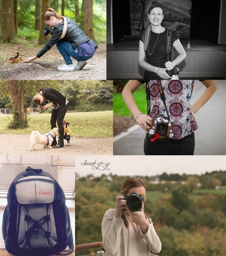 Collage of photographer in Melbourne in action