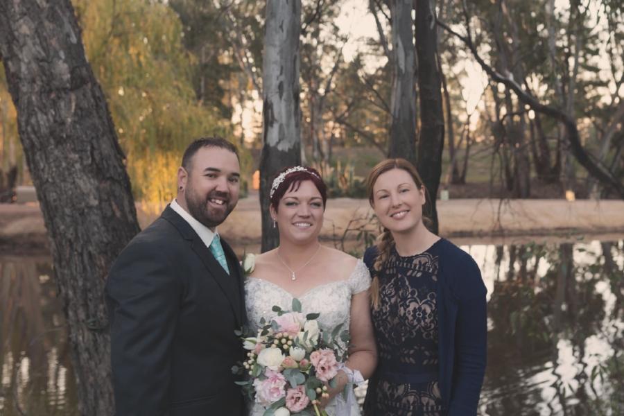 Sarah Joy Willison melbourne Photographer with bride and groom