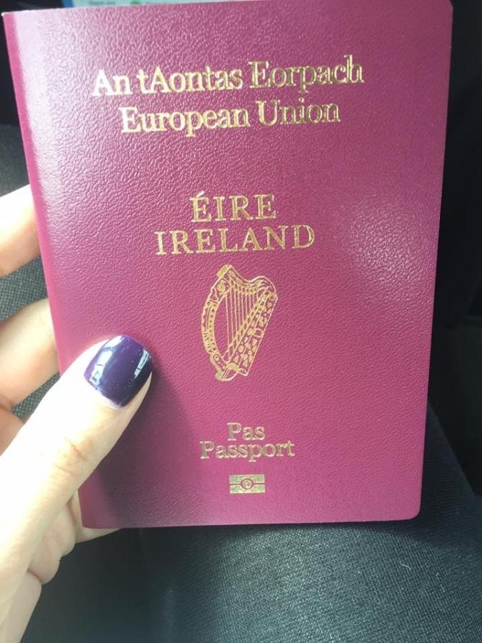 The day my Irish passport arrived!