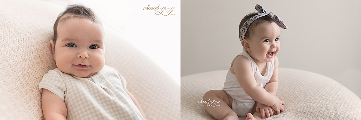 Baby photography milestone sessions