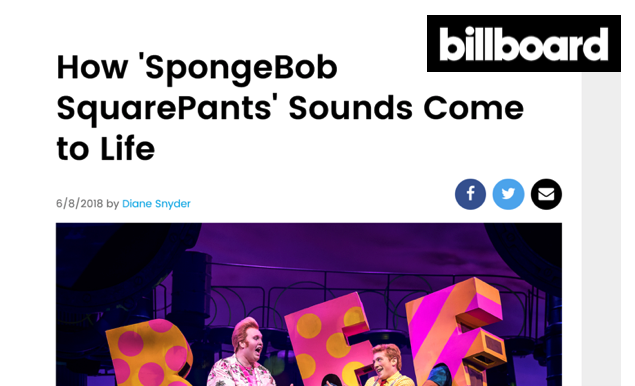 Dobson and sound designer Walter Trarbach talk Spongebob with Billboard magazine.