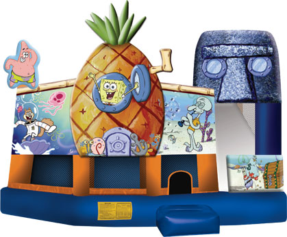 Sponge Bob 3D 5-in-1 moon bounce