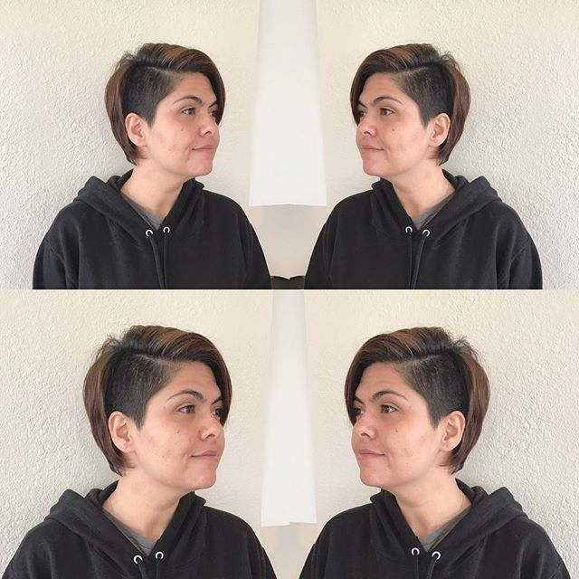The cutest #citizenbabe came in this week for a sassy little disconnected bob! Good job @hairbythecarissa . . . . #babealert #changeisinthehair #bob #pixie #crop #disconnectedundercut #goodhairforthepeople #allthepeopleallthehaircuts #cutyourhair #justcutitoff #orkeepitlong #montereyhairstylist #montereysalon #citizenhair #fortheloveofhair
