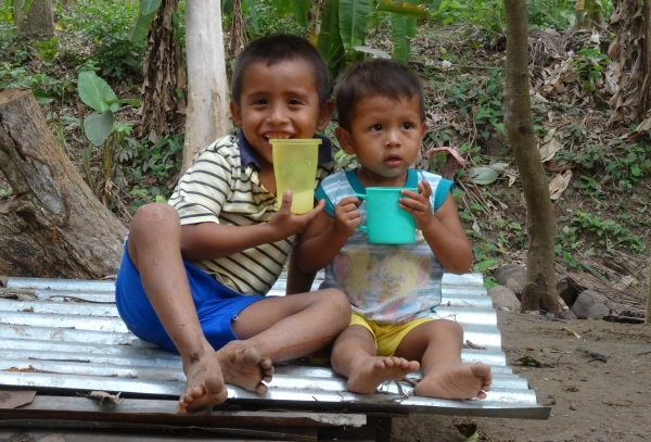 That's Jeremiah and his little brother Jordy in Guatemala, drinking atol - a traditional corn drink but made with our high-protein FORTALEZA corn 12/8/16
