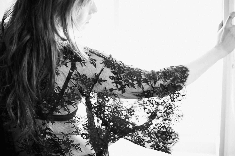 bridal lace robe