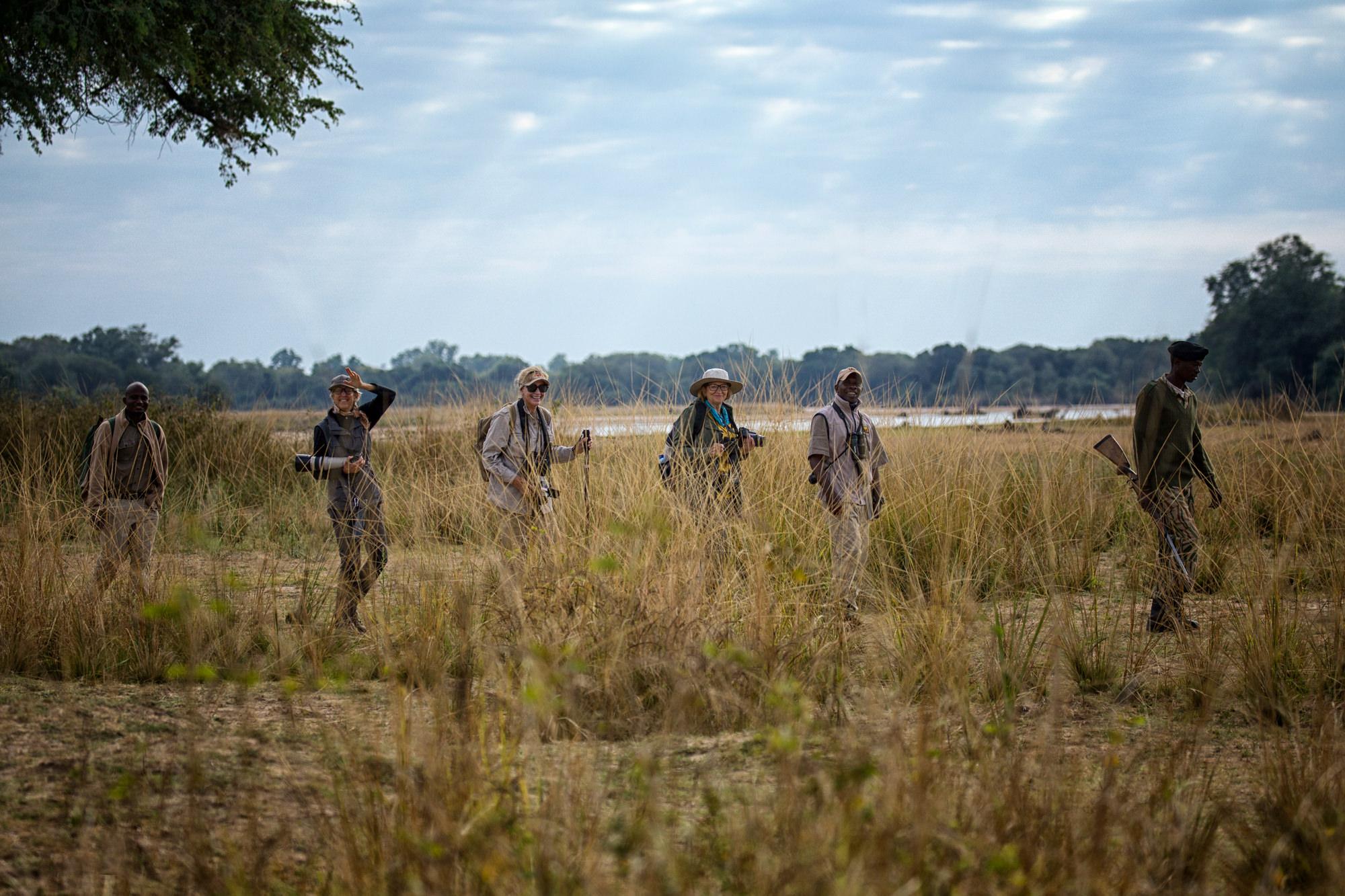 Walking safari from Kapamba Bush Camp