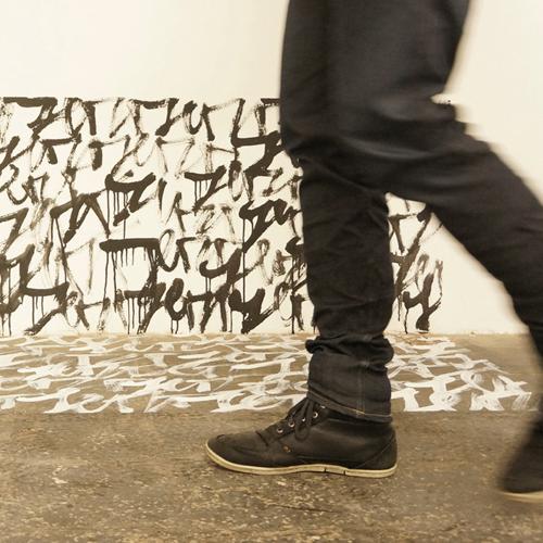 Wand-/Bodenarbeit: Lebendige Handschrift (c) Jörg Schmitz