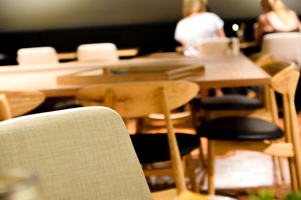 Many of their clean, modern and minimal design furniture were custom made by   StudioBikin  .