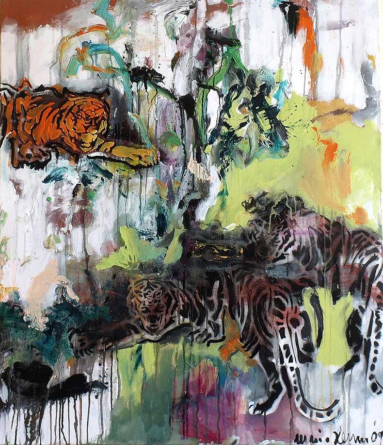 Tiger_ 2009_90x105cm_Oel auf Leinwand