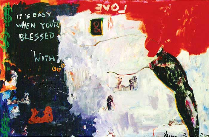 it´s easy when you are blessed_ 1999_120x100cm_Mischtechnik auf Leinwand