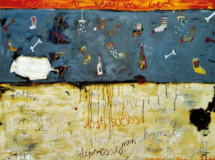 Reasons to stay in bed _1999_210x160cm
