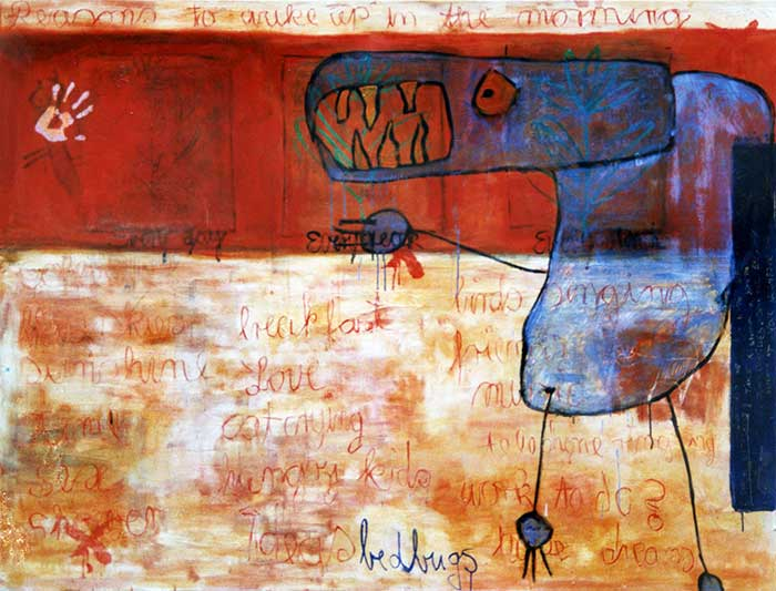 Reasons to wake up in the morning _1999_210x160cm