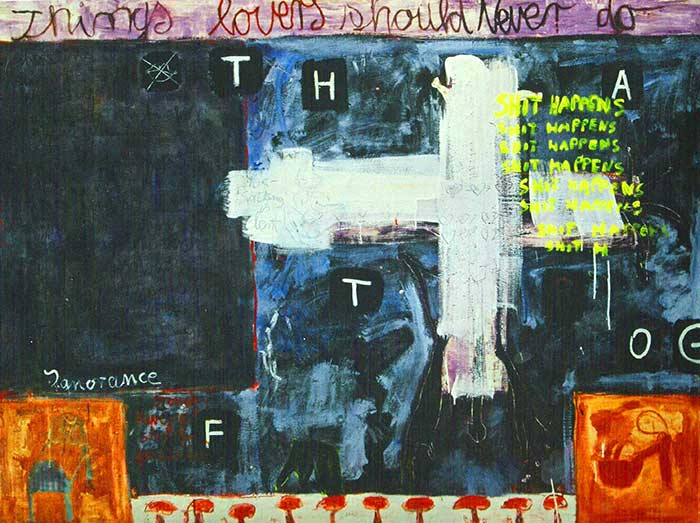 Things lovers should never do _1999_210x160cm