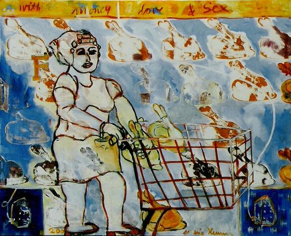 ...with money, love & sex _1999_210x160cm