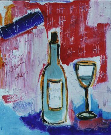 Vino_1998_100x80cm_Acryl auf Leinwand