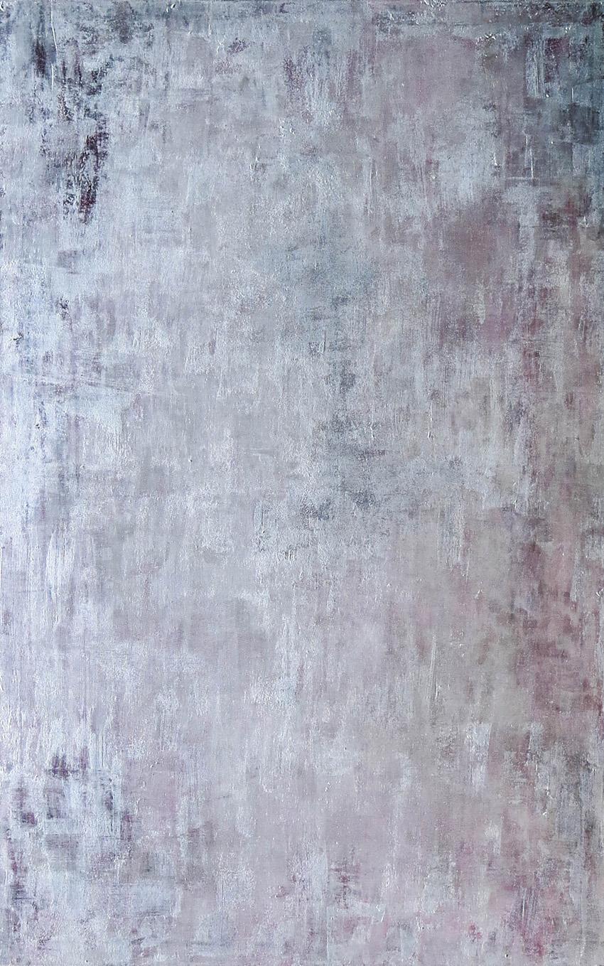 Silversurfer_ 2017_95x150cm_Öl, Blattsilber auf Leinwand