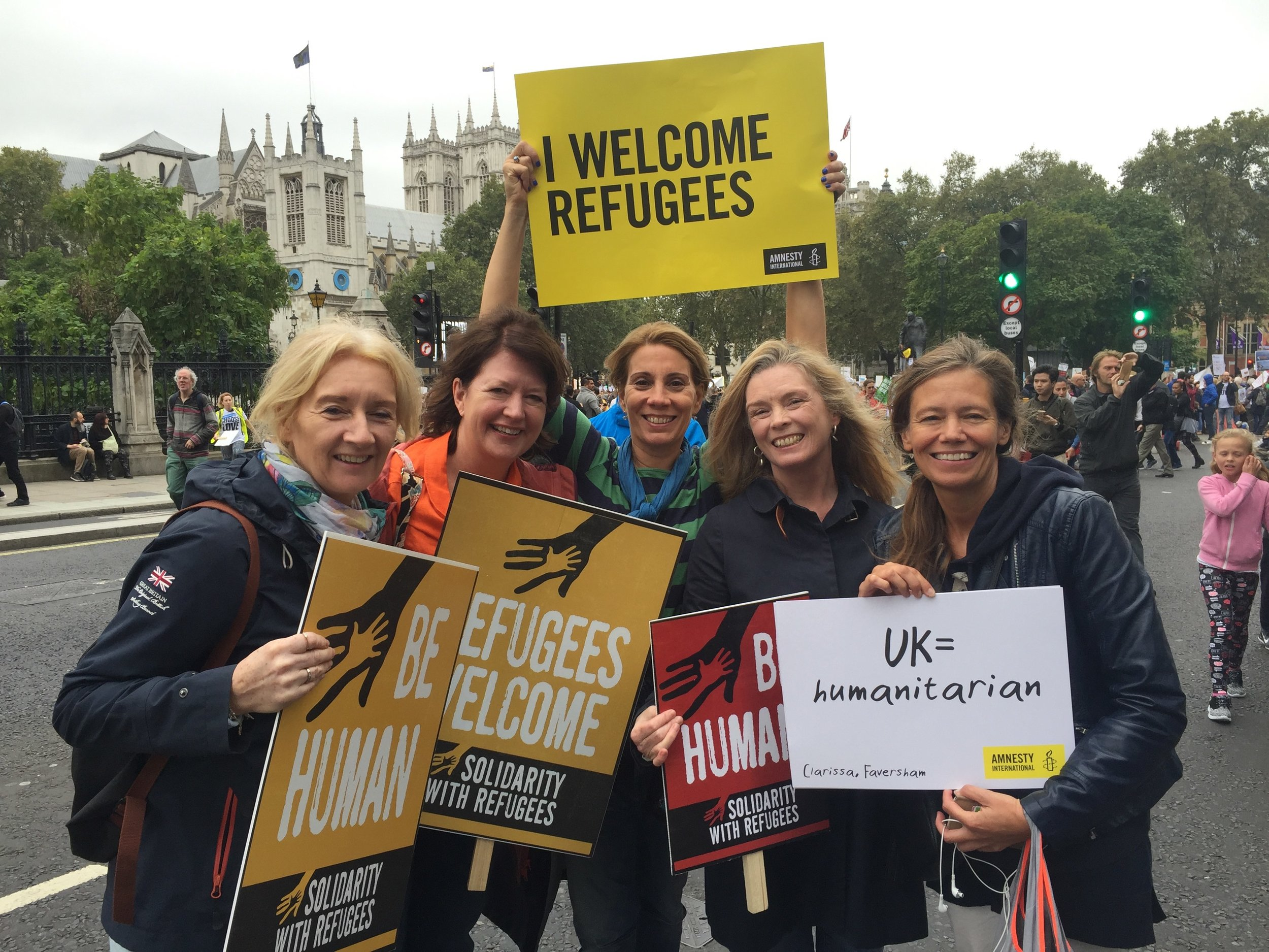 A group from HIghgate Has heart joined the Refugees Welcome march in London