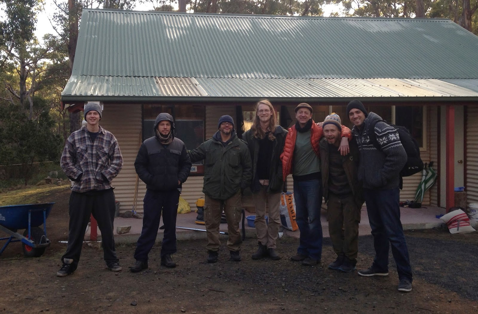 Some of Team Vipassana. All grins on Day 10…