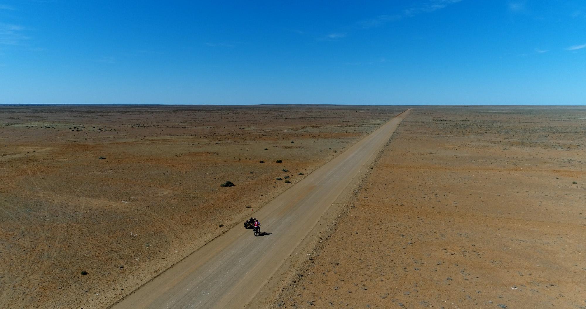 Day 3 - muloorina homestead to Maree 52.7km. Photo Matt Newton  Rummin .
