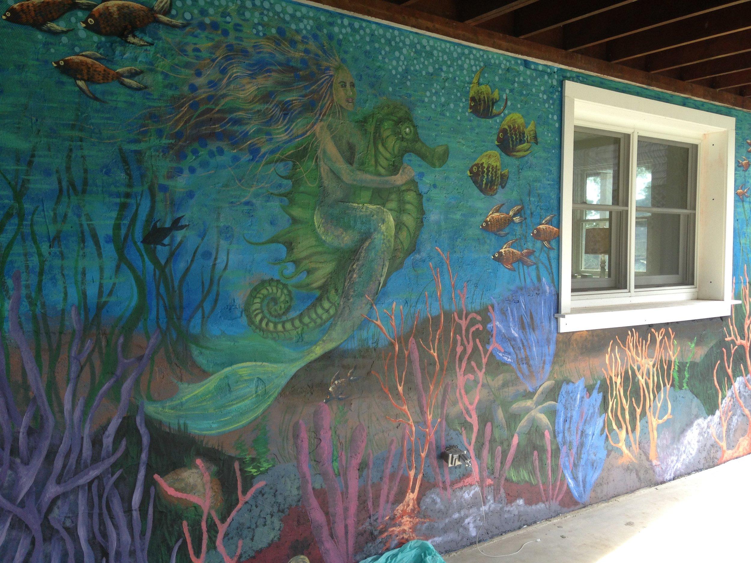 Underwater Mural in Lewes, DE