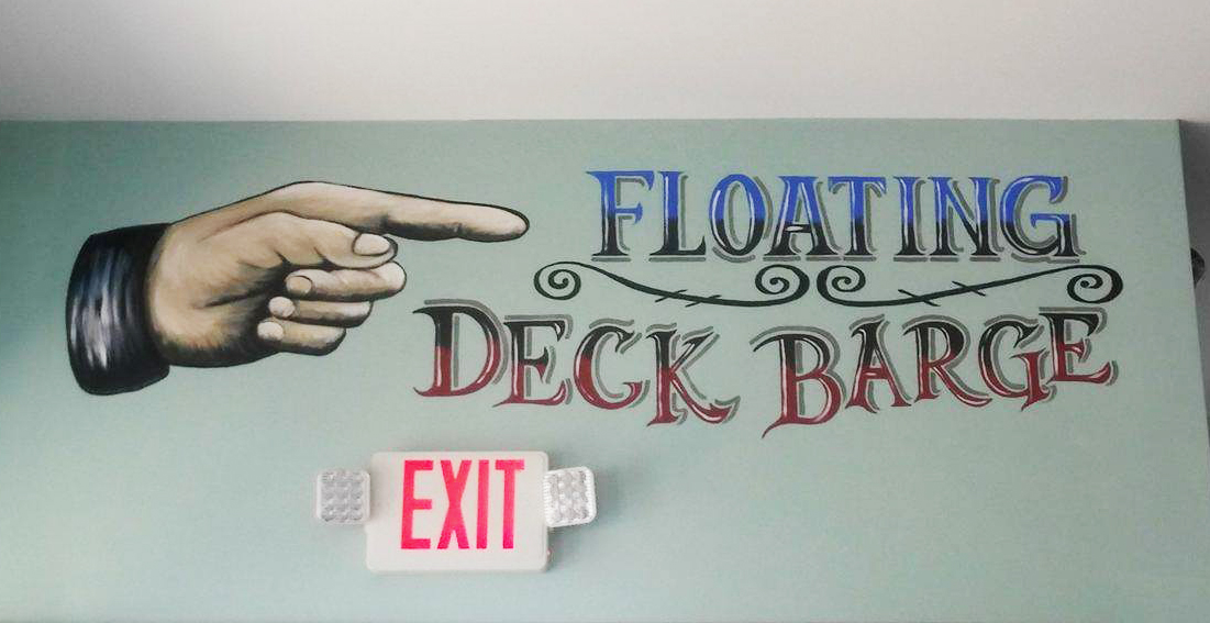 Interior Mural Sign at Ropewalk Chincoteague