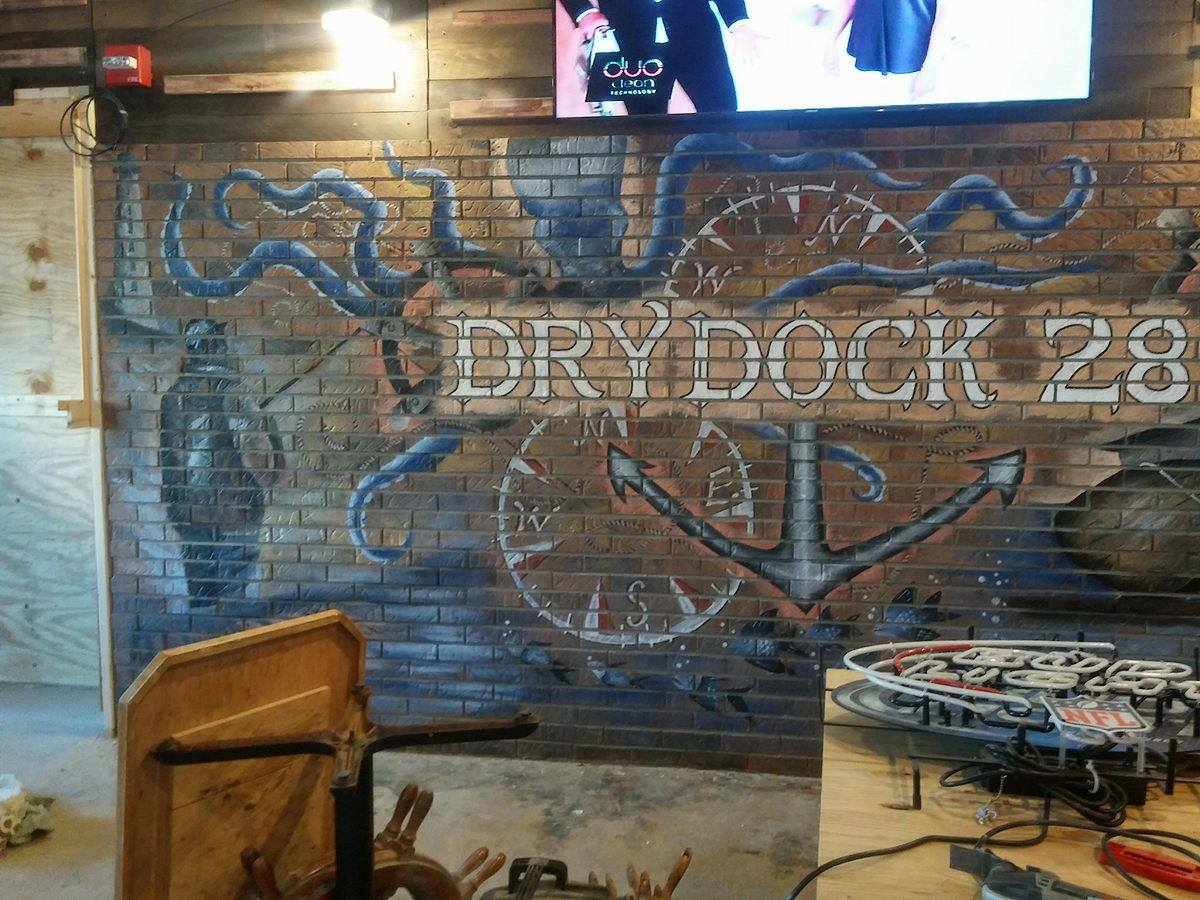 Another View of Mural at Dry Dock 28