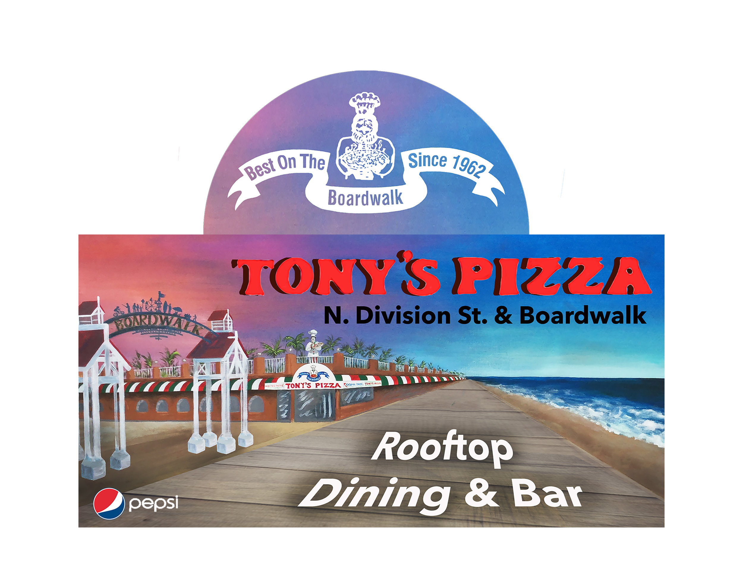 Tony's Pizza Rt 50 Billboard Design