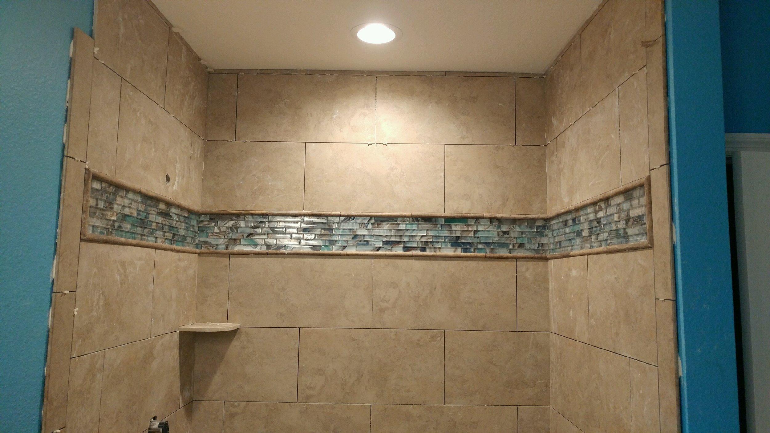 Master Bath shower Tile