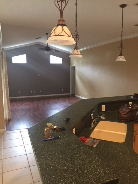 Before Kitchen and Living Room