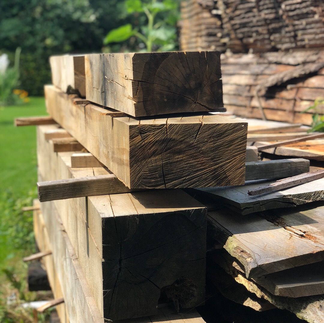 drying oak beams