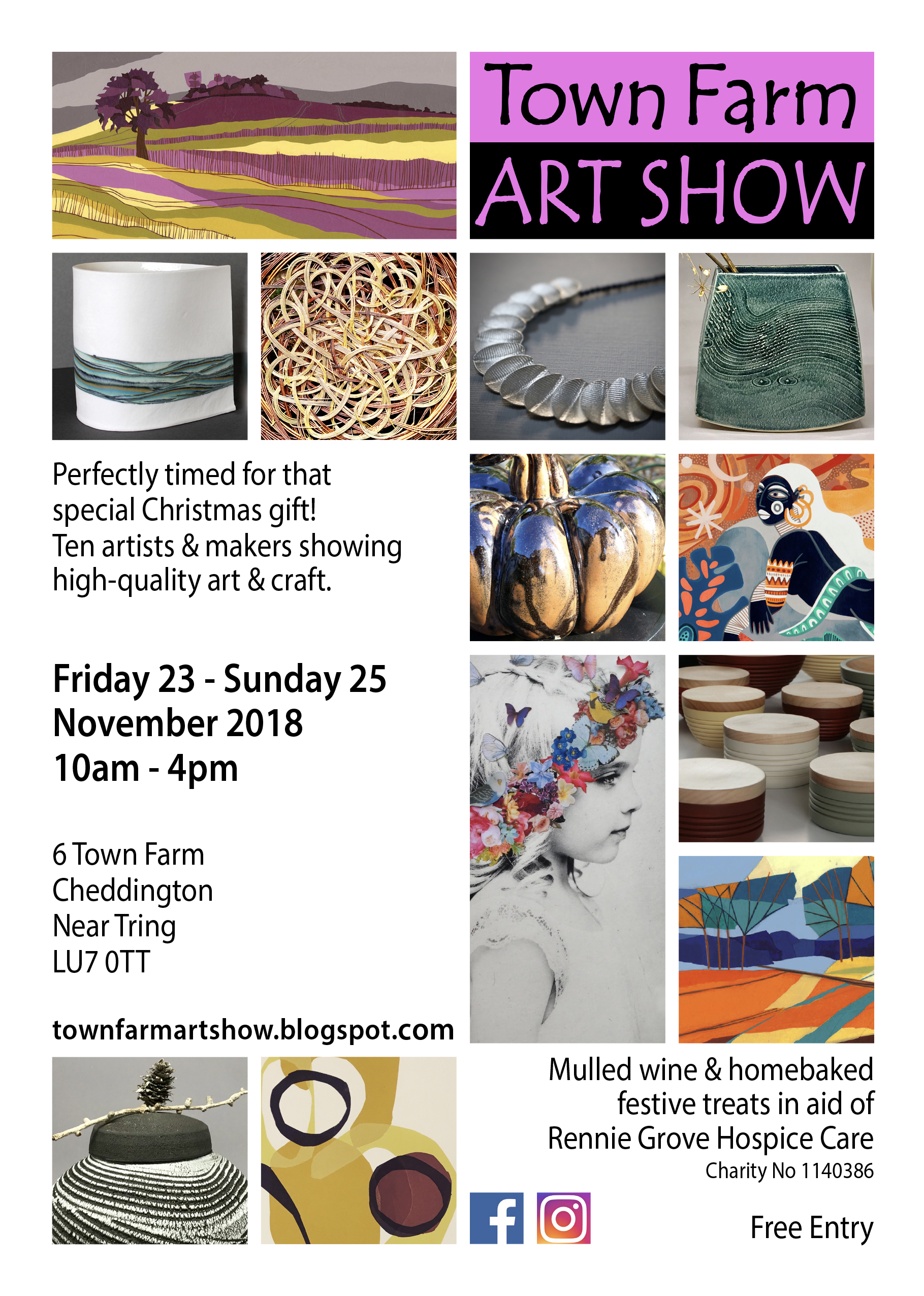 23 - 25 Nov - Town Farm Art Show - Cheddington