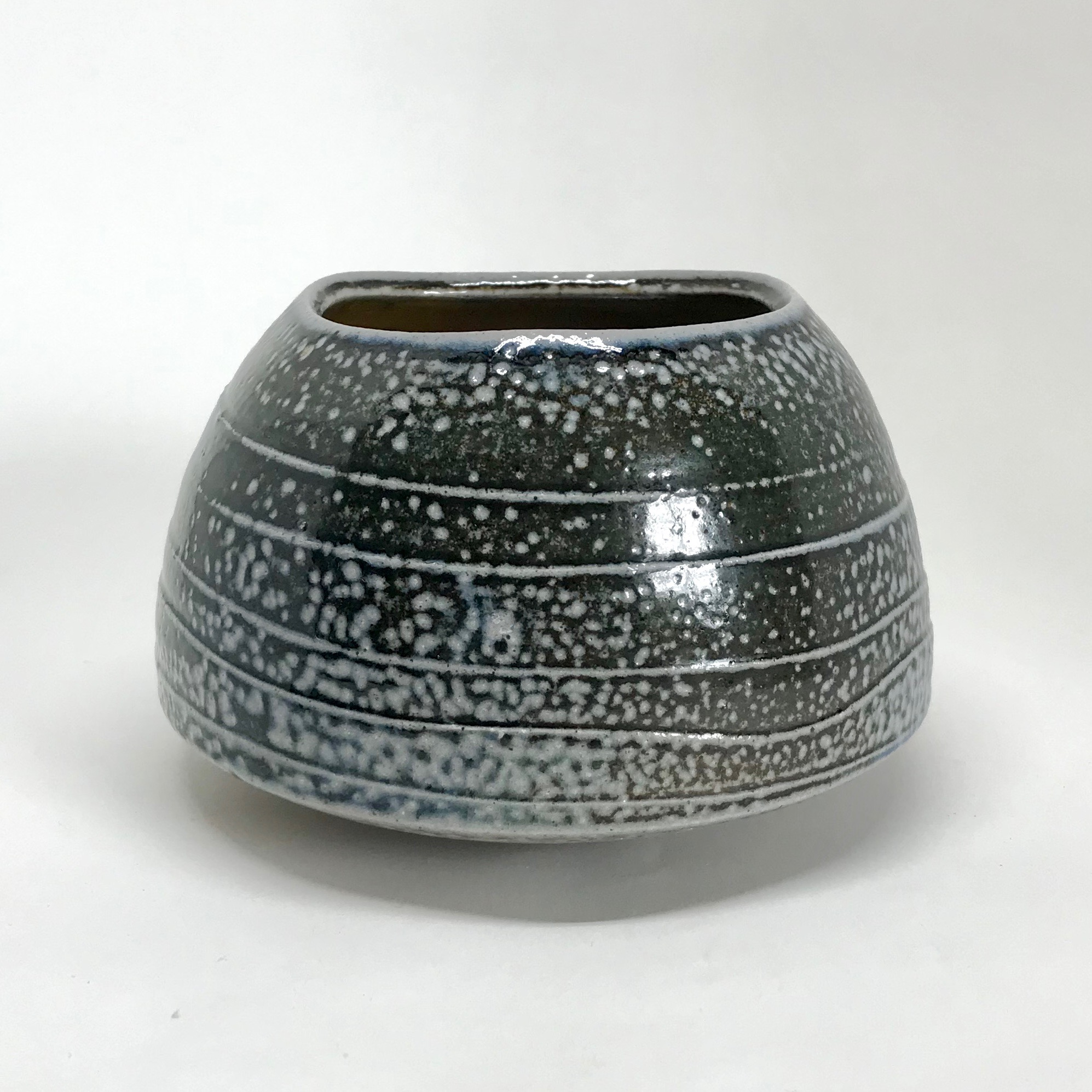 soda fired textured pot