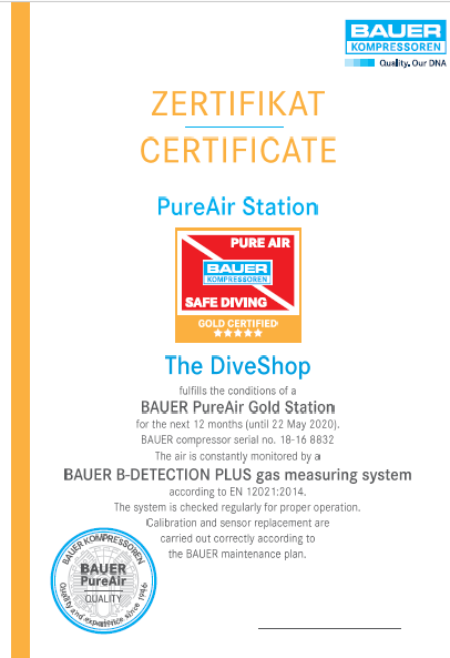 Bauer Pure Air Curacao Scuba Diving