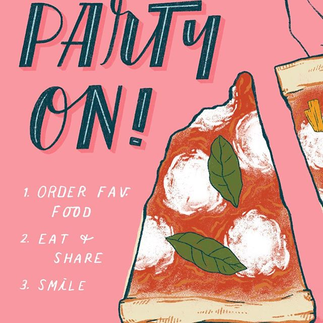 Birthday Bash piece for @theydrawandcook Handpicked Challenge. My current fav meal Pizza & Beer - Ideally it would be at Pizza Paradiso in DC with my 5 best friends laughing and catching up. Miss you ladies! ... . Also, anyone else obsessed with BonAppetit Mag's YT channel? I wish I had an entire week to chill and just make their perfect pizza 😋 . ... #theydrawandcook #foodillustration #foodillustrator #illustratorforhire #pizzaandbeer #tdacdesignchallenge