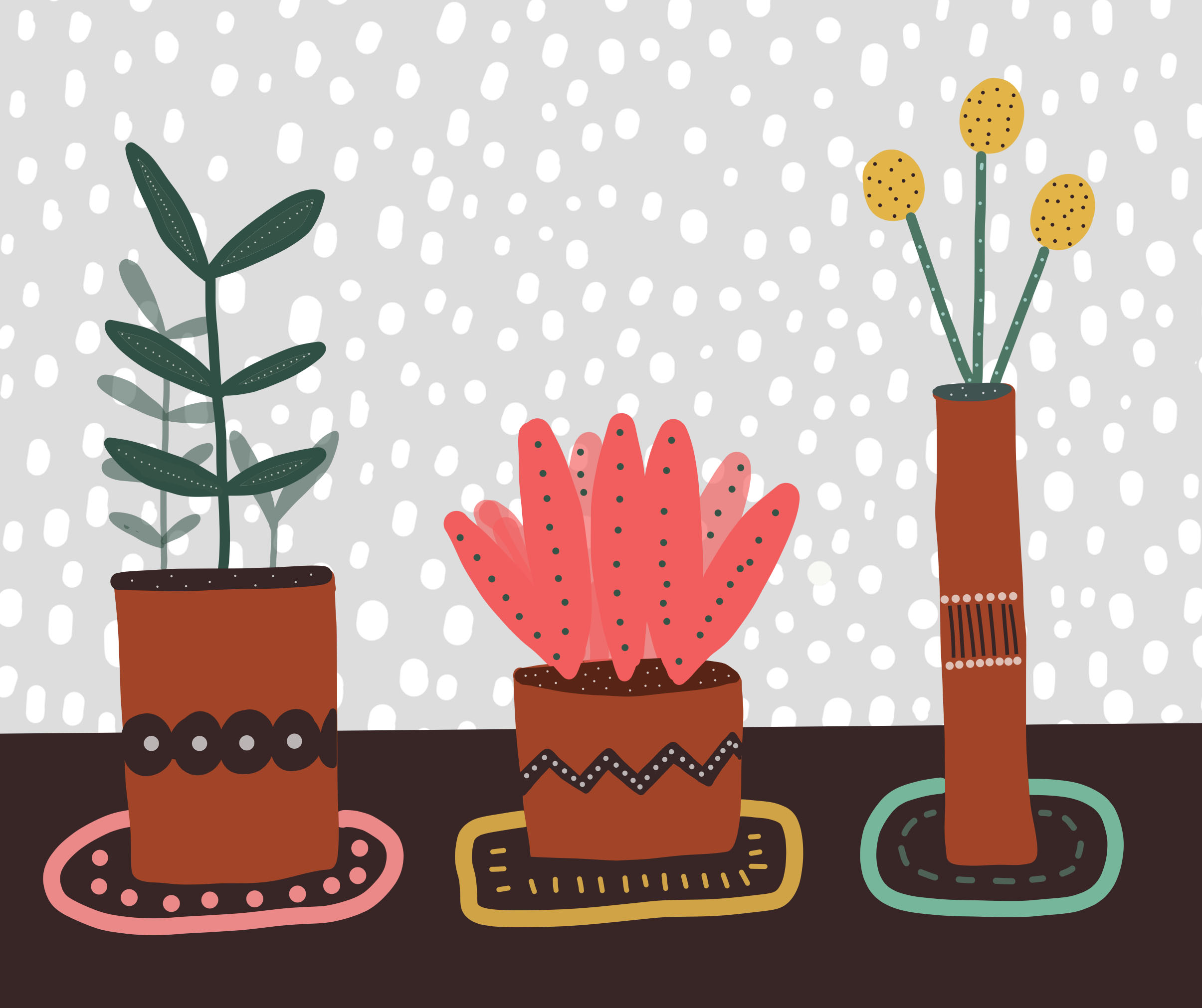 Plants on snow