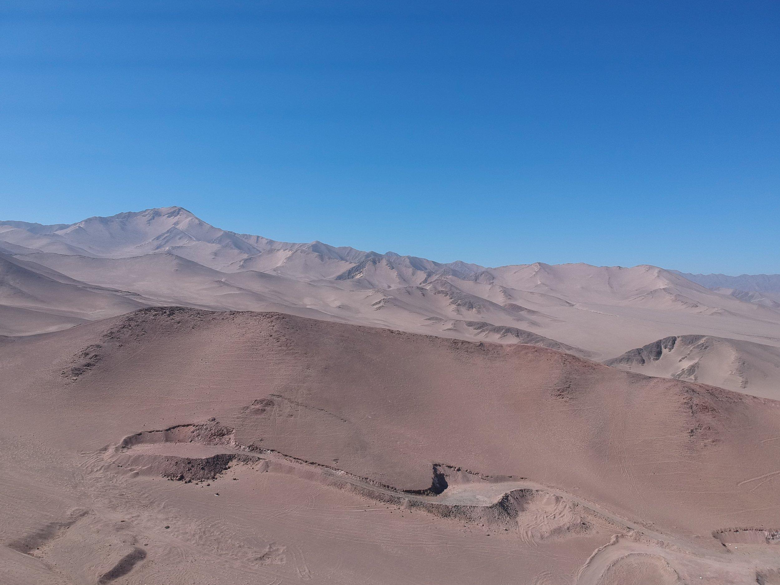 Aerial view of Atacama Cobalto Project (drone footage by Kura Minerals)