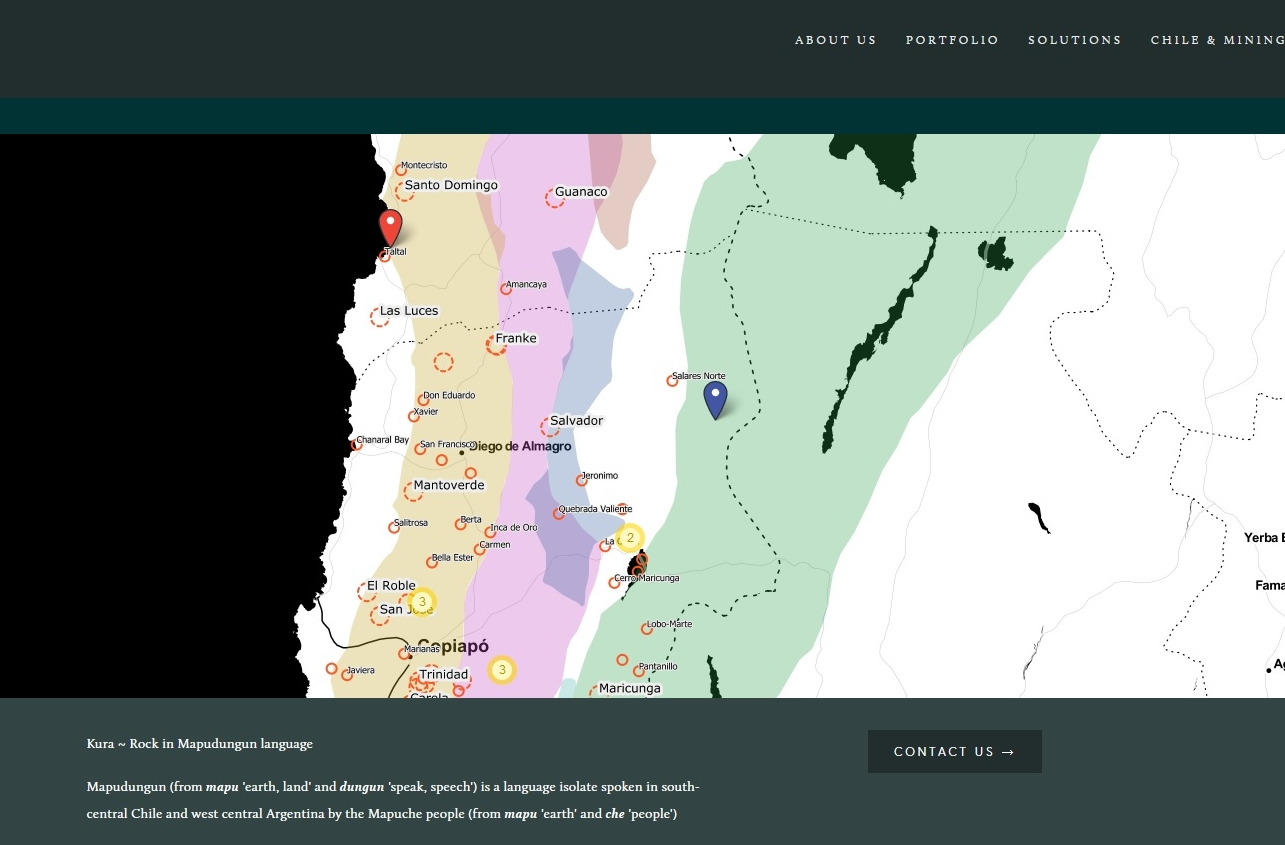 Kura Map - Sneak peek!! Explore our database with multiple projects located in Chile's prolific metallogenic belts, from greenfield prospects to mine operations.