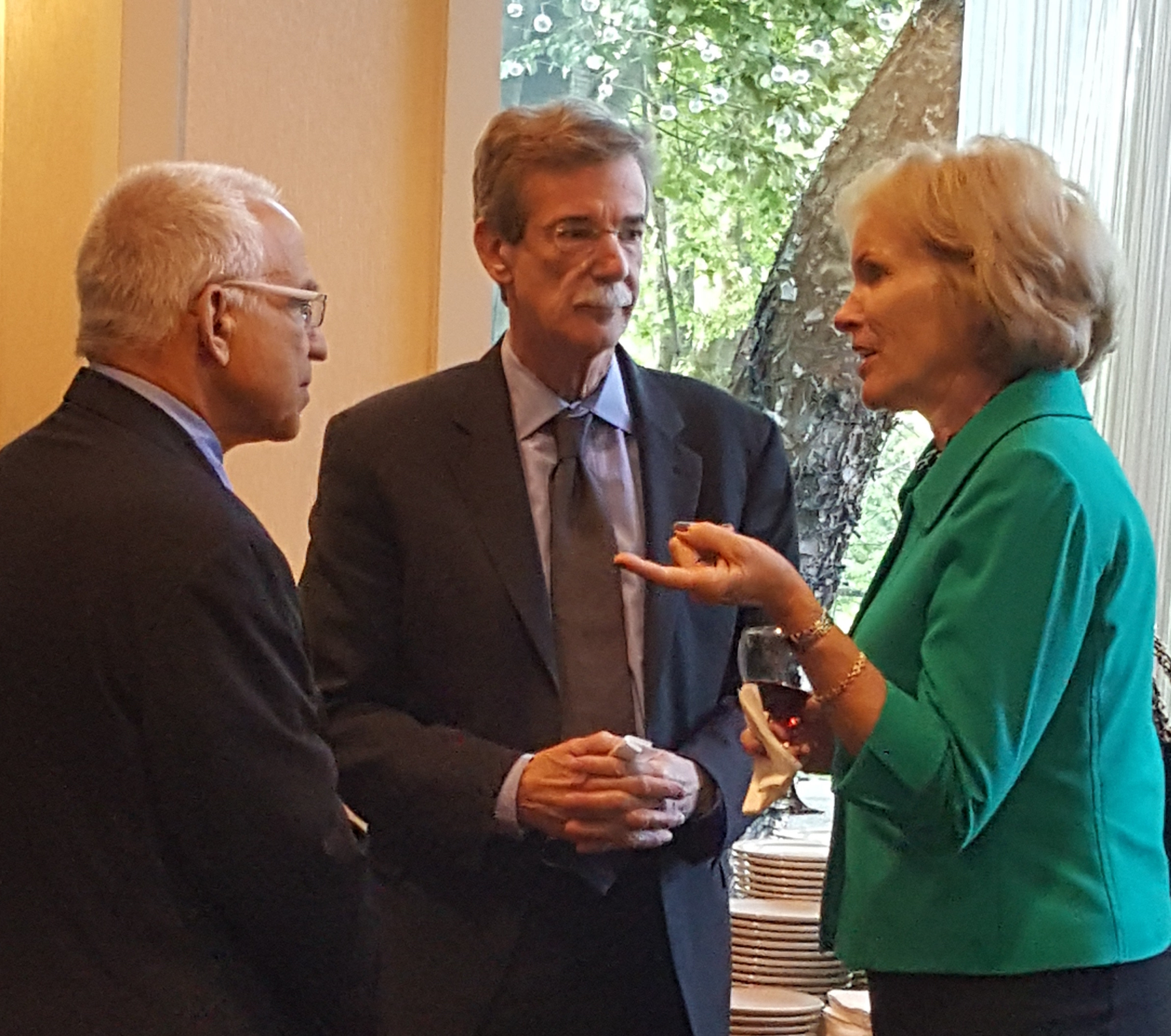 (L-R): Bill Lebovich, Maryland Attorney General Brian Frosh, and Fran Phillips