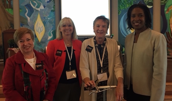 L-R: Consumer Health First Vice-President,Dr. Madeleine Shea, Executive Director, Jeananne Sciabarra, President, Leni Preston, and Dr. Cara James, Director, Office of Minority Health CMS