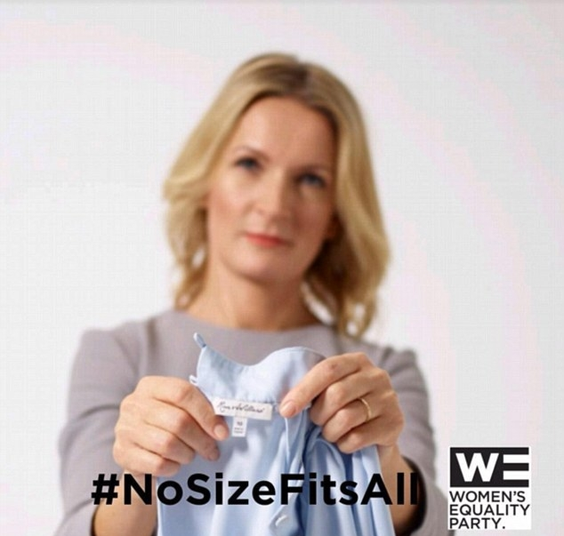 #NoSizeFitsAll campaign by The Women's Equality Party. Image courtesy of The Women's Equality Party