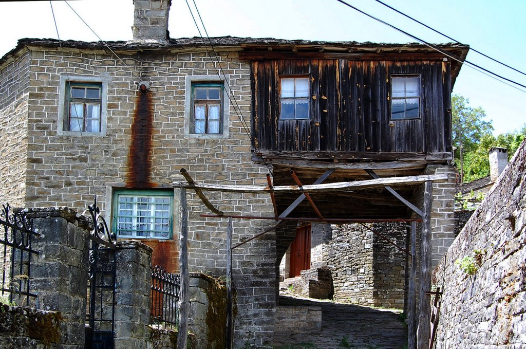 Negades    A traditional village of Zagori (altitude 1,060 m). The triple-naved basilica of Ag. Georgios was founded in 1792. It is located 44.5 km N of Ioannina.