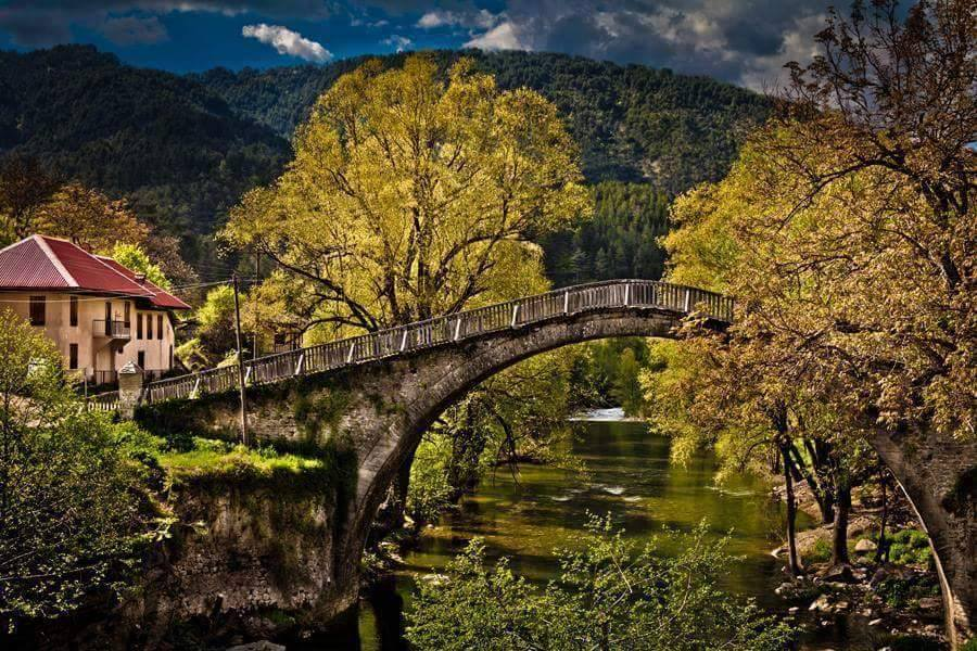 Vovousa    A traditional village (altitude 1,000 m) traversed by the Aoos river and built in a lush location containing rare animals and plants. The stone arched bridge dates back to 1748. Vovousa is very near the national park of Pindos (Valia Kalda). It is located 71.5 km NE of Ioannina.