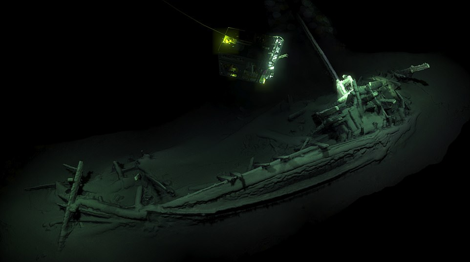 The 75ft shipwreck was been found lying whole with its mast, rudders and rowing benches after more than 2,400 years.