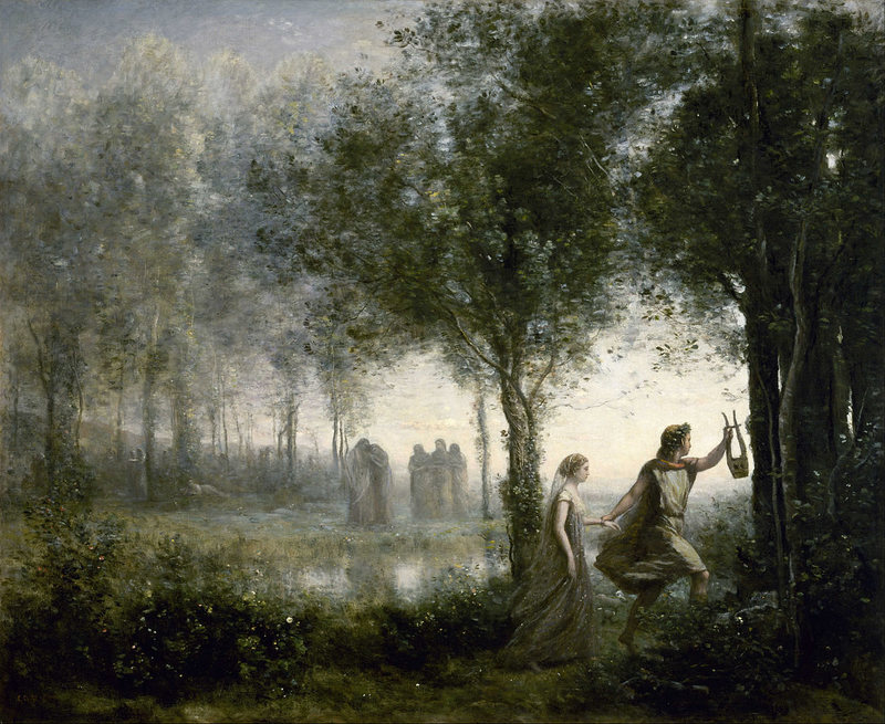 Orpheus Leading Eurydice from the Underworld , by Jean-Baptiste Camille Corot.