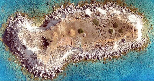 Aerial view of Geronisis island [Credit: Department of Antiquities, Cyprus]