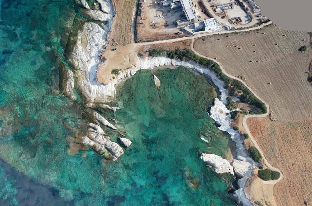 3D model of Maniki Harbour, Geronisos [Credit: Department of Antiquities, Cyprus]