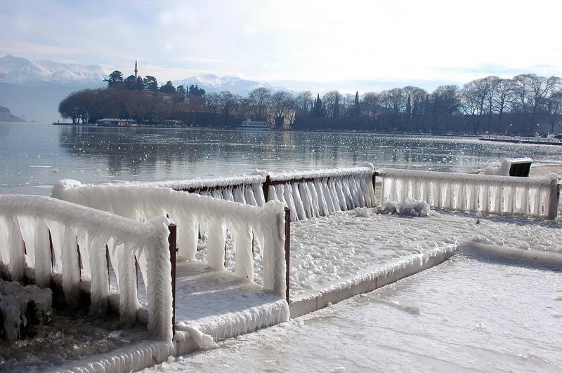 Frozen winter in Ioannina