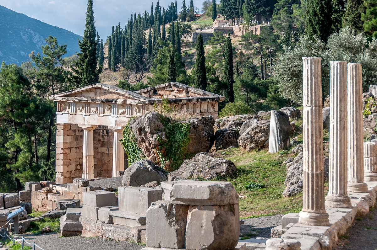 The treasury of Athenians at Delphi