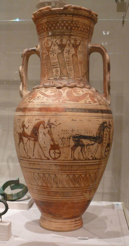 Fig.5: Proto-Attic Amphora. Metropolitan Museum of Art. Author: Ad Meskens 2009.