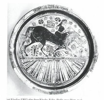 Fig.6: Late Wild Goat style plate from Rhodes. Source: John Boardman 1998.